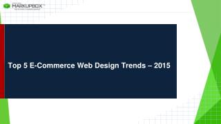 Top 5 E-Commerce Web Design Trends – 2015