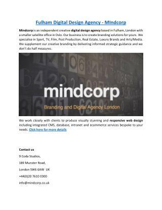 Fulham Digital Design Agency - MIndcorp