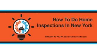 How To Do Home Inspections In New York
