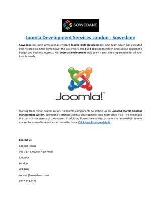 Joomla Development Services London - Sowedane