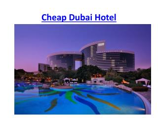 Cheap Dubai hotel, Budget Hotels in Dubai