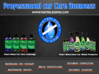 Professional Car Care Business- Waterlesspro