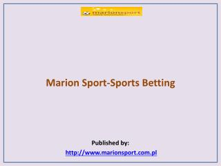 Marion Sport-Sports Betting