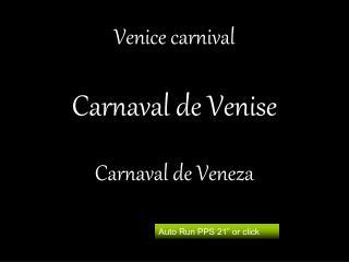 Venice carnival  Carnaval de Venise  Carnaval de Veneza