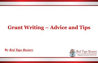 Grant Writing | Advice and Tips | Red Tape Busters