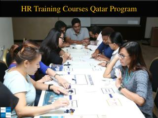 HR Training Courses Qatar Program