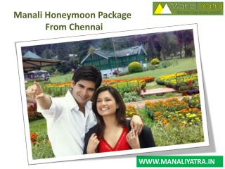 Manali Honeymoon Package From Chennai