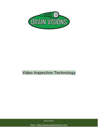 Video Pipe Inspection Service BY Drain Visions