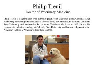 Philip Treuil - Doctor of Veterinary Medicine