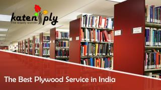 The best plywood services in India