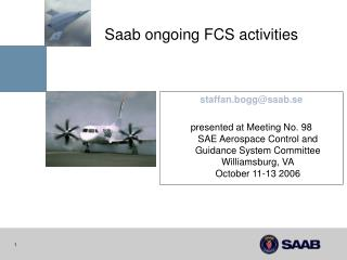 Saab ongoing FCS activities