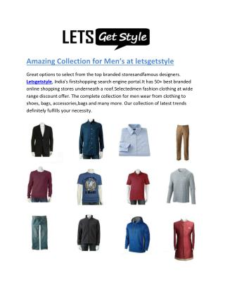 Lets Get Style-Online shopping men wear collection- letsgetstyle.com