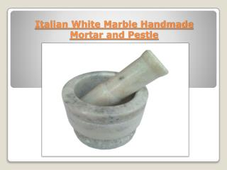 Italian White Marble Handmade Mortar and Pestle set