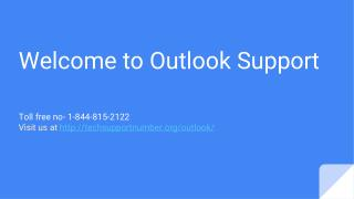 Outlook Support | 1-844-815-2122
