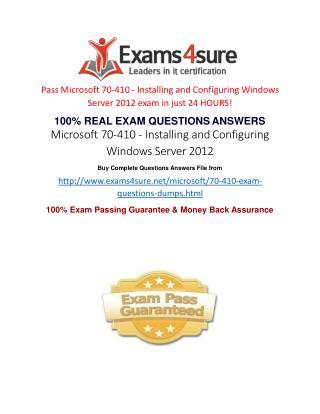 70-410 Practice Exam Questions