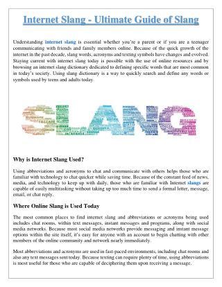 Internet Slang - The Ultimate Guide to Internet Slang