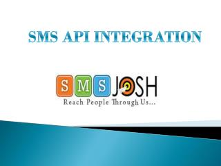 SMS API Integration- SMS JOSH