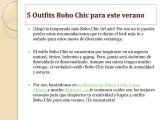 5 Outfits Boho Chic para este verano - Vicool
