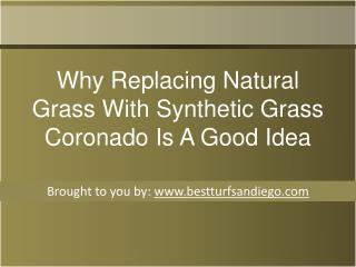 Why Replacing Natural Grass With Synthetic Grass Coronado Is A Good Id