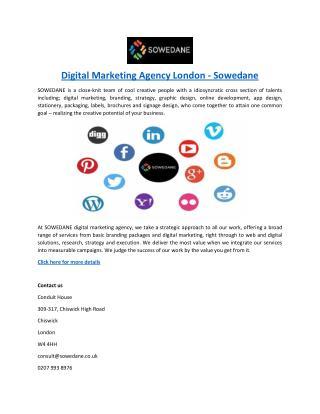 Digital Marketing Agency London - Sowedane