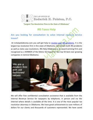 IRS Taxes Help