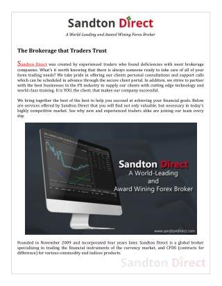 Sandton Direct � Award Wining Forex Broker