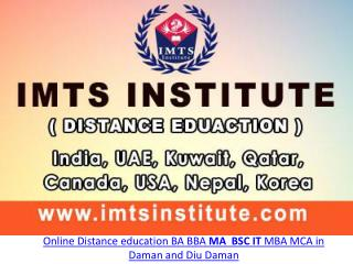 Online Distance Education BA BBA MA BSC IT MBA MCA in Daman and Diu Daman