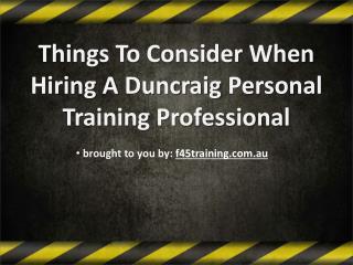 Duncraig personal training