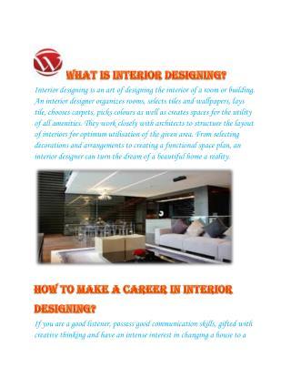 Interior Designing - WisdomJobs