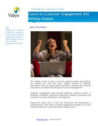 Count on Customer Engagement this Holiday Season - Vidyo