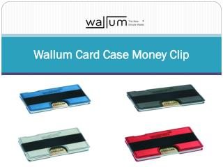 Wallum Card Case Money Clip