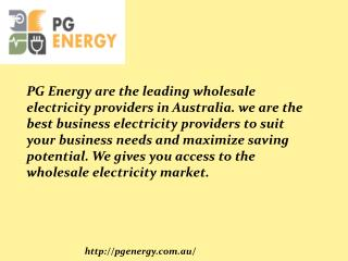 Wholesale Electricity Suppliers Australia