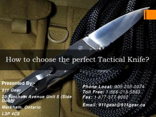 What Makes A Tactical Knife?