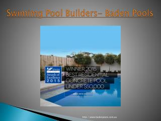 Swimming Pool Builders - Baden Pools