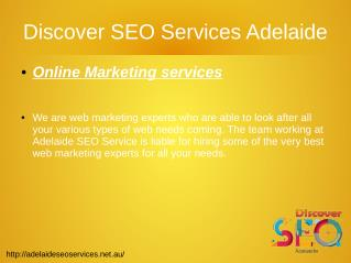 Online Marketing at Discover SEO Services Adelaide