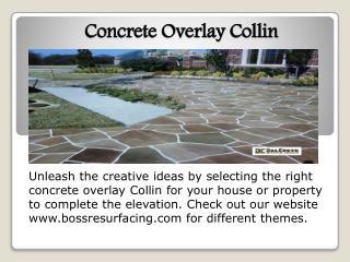 concrete overlay Collin