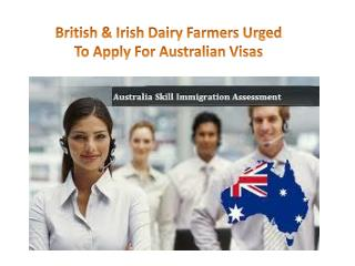 British & Irish Dairy Farmers Urged To Apply For Australian Visas