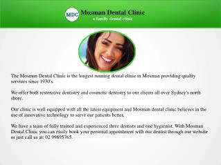 Neutral Bay Trusted Local Dentist