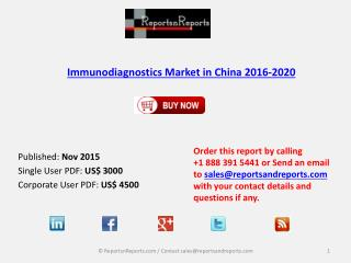 Immunodiagnostics Market in China 2020 – Key Vendors Research and Analysis