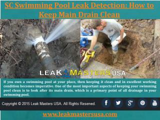SC Swimming Pool Leak Detection