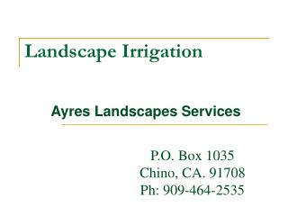 Certified and Expertly Trained : Ayres Landscapes