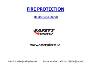 Fire Extinguisher Holders and Stands by safetydirect.ie