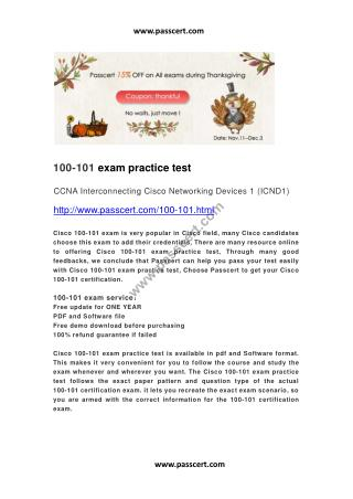 Cisco 100-101 exam practice test