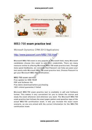 Microsoft MB2-700 exam practice test