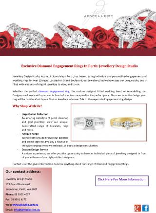 Exclusive Diamond Engagement Rings In Perth: Jewellery Design Studio