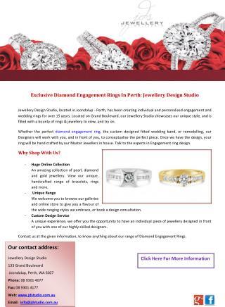 Exclusive Diamond Engagement Rings In Perth: Jewellery Design Studio