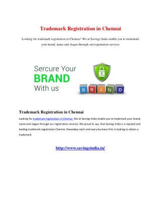Trademark Registration in Chennai