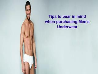 Things To Consider While Buying Men's underwear