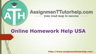 Online Homework Help USA |ATH