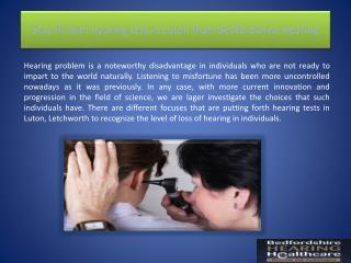 Stay fit with hearing test in Luton from Bedfordshire Hearing